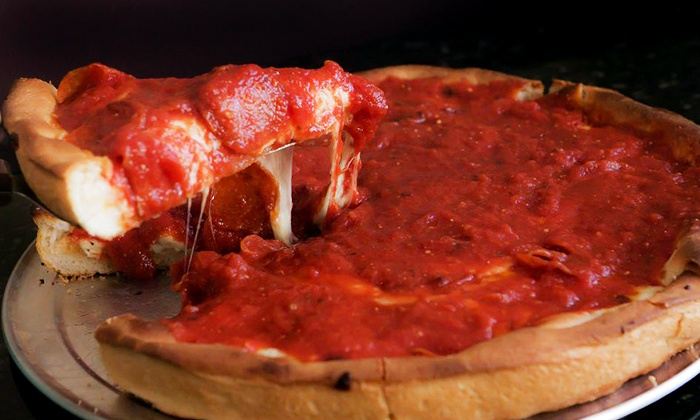 Chicago Pizza at the Landing - Chicago Pizza at the Landing: Pizza, Sandwiches, and Chicago-Style Food for Dinner or Lunch at Chicago Pizza at the Landing (40% Off)