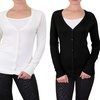 Sofras Women's V-Neck Rayon Cardigan