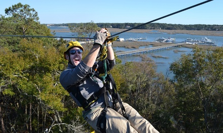 Zipline Tour for One, Two, or Four at ZipLine hilton head (Up to 36% Off)