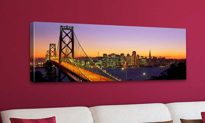 """Famous Bridges on 16""""x48"""" Gallery-Wrapped Canvas Prints: $49.99 for a Famous Bridge on a 16""""x48"""" Canvas Print ($164.99 List Price). Multiple Bridges. Free Shipping and Returns."""