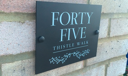 Personalised House Sign for £9.99 With Free Delivery
