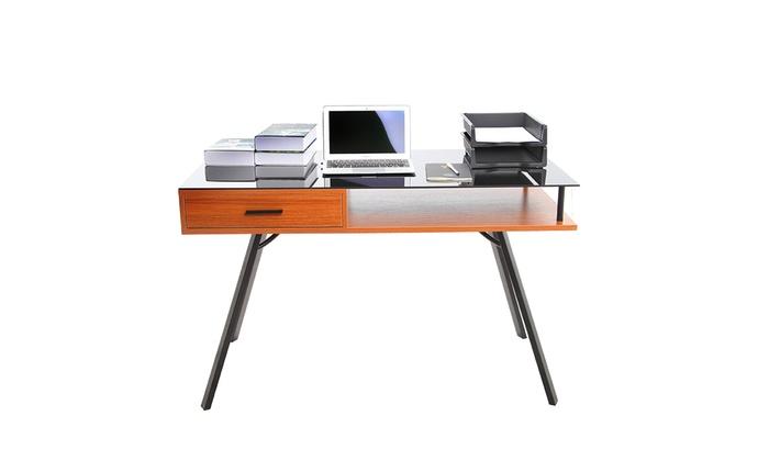 bureau pour ordinateur groupon shopping. Black Bedroom Furniture Sets. Home Design Ideas
