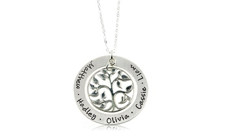 Hannah Design Large Tree of Life Necklace in Sterling Silver