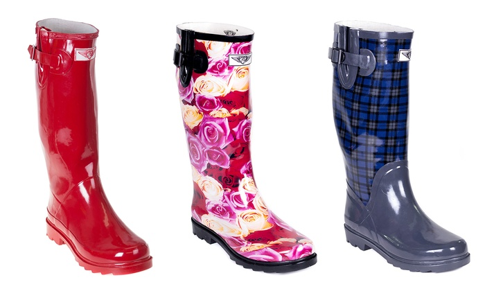 Women's Rubber Rain Boots | Groupon Goods