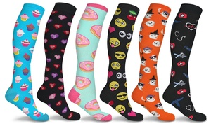 Fun and Expressive Compression Socks (3 Pairs)