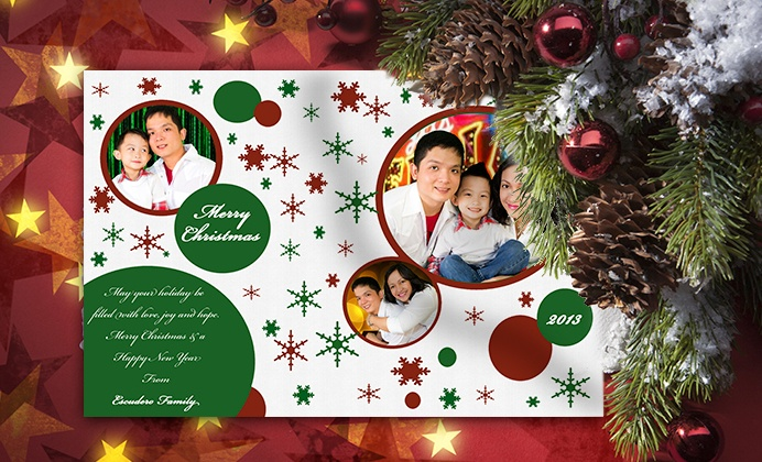 Michileng Photography - Las Vegas: Custom Holiday Cards with Provided Photos or Photos from On-Site Shoot from Michileng Photography (Up to 65% Off)