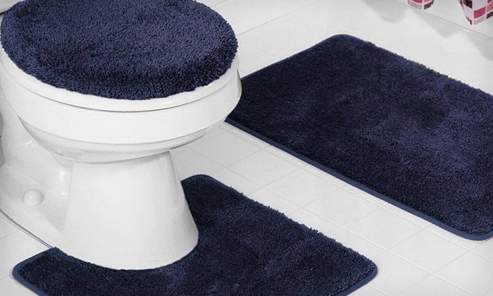 Bathmat and Toilet-Lid-Cover Set: $25 for a Three-Piece Bathmat and Toilet-Lid-Cover Set ($44 List Price). Four Colours Available. Free Returns.