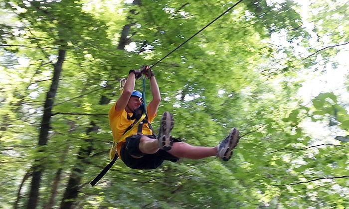 Squire Boone Caverns Zipline Course - Heth: $64 for a Zipline Canopy Tour for Two at Squire Boone Caverns Zipline Course ($118 Value)