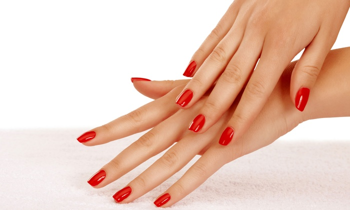 Natural Nails by T - Mapleton - Fall Creek: Shellac or Regular Mani-Pedi at Natural Nails by T (Up to 55% Off)
