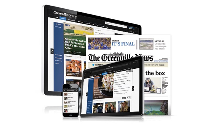 The Greenville News - Greenville: 26- or 52-Week Sunday Edition, or 52-Week Digital-Only Subscription to The Greenville News (Up to 93% Off)