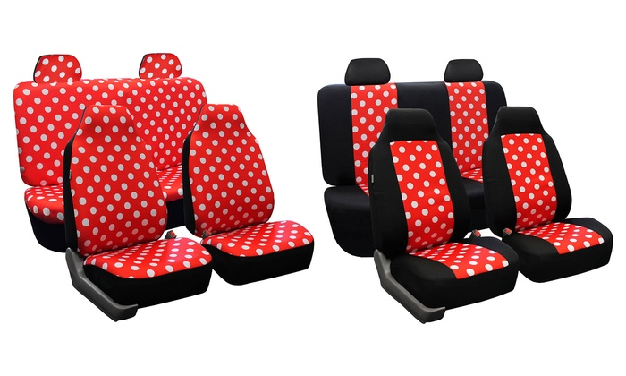 polka dot car seat covers groupon goods. Black Bedroom Furniture Sets. Home Design Ideas