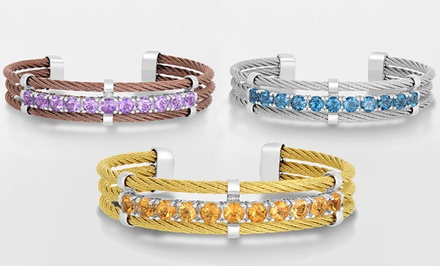 Genuine Gemstone Bangle Bracelets in Sterling Silver and Stainless Steel. Multiple Styles Available. Free Returns.