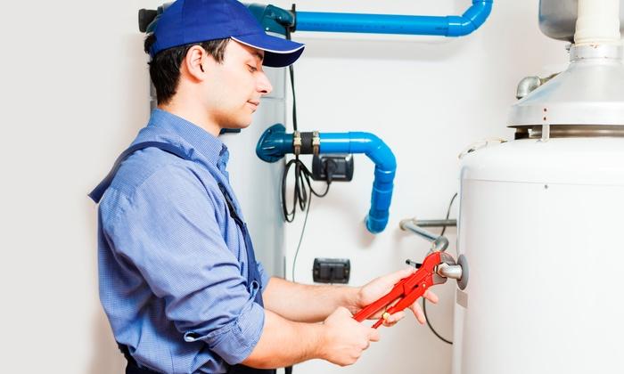 Suburban Plumbing - Charleston: $55 for a Water-Heater Flush from Suburban Plumbing ($110 Value)