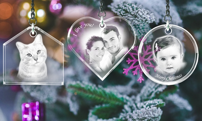 3D Laser Gifts: One, Two, or Three Personalized Ornaments from 3D Laser Gifts (Up to 60% Off)