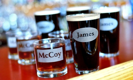 Four Custom Engraved Pint or Rocks Glasses from Glass with a Twist (Half Off)