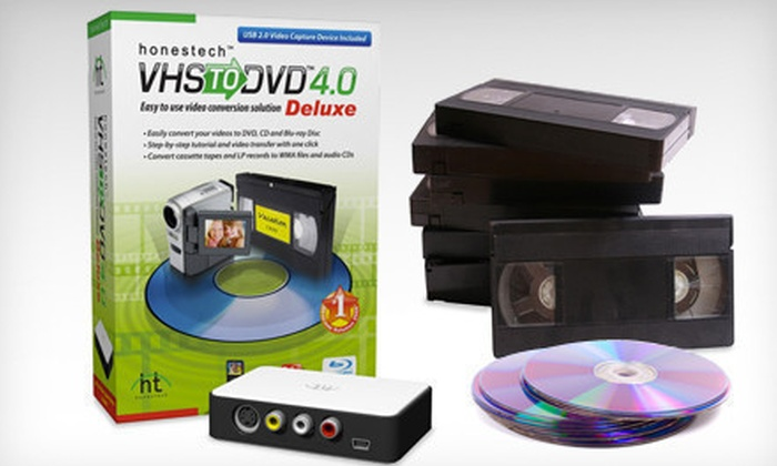VHS to DVD/Blu-ray Conversion Software: $39 for a Honestech VHS to DVD 4.0 Deluxe with Shipping ($99.99 List Price)