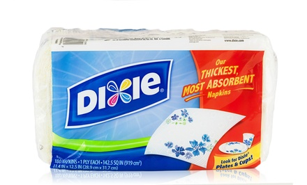 Dixie Print Napkins; 12-Pack of 180ct. Napkins + 5% Back in Groupon Bucks