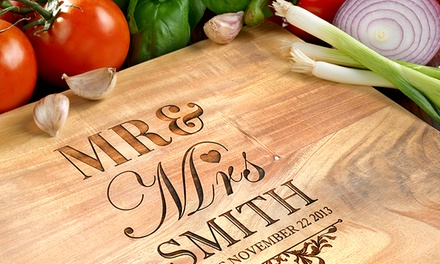 Tábua de cozinha para cortar personalizada desde 18,99€