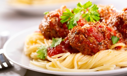 Italian Cuisine at A'mis Italian Restaurant (40% Off). Four Options Available.