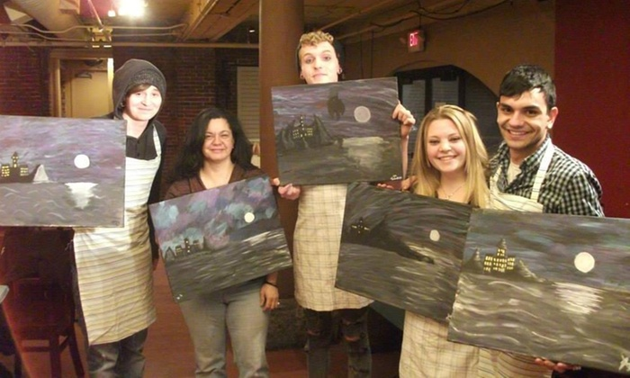 A Night Out Painting - Boston: $19 for $35 Groupon — A Night out Painting