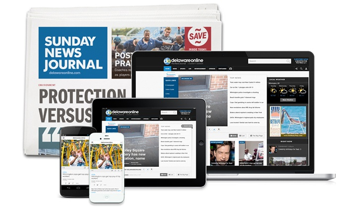 The News Journal: 26- or 52-Week Full Access Subscription with Sunday Delivery of The News Journal (Up to 81% Off)