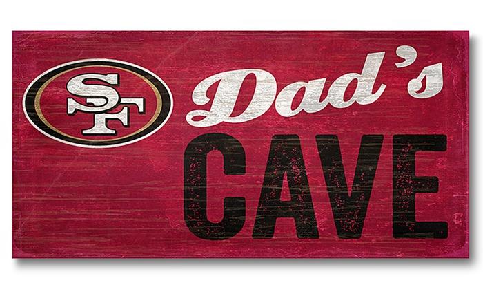San Francisco 49ers Dad's Cave Sign: San Francisco 49ers Dad's Cave Sign