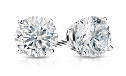 1.50 CTW Round Diamond Stud Earrings