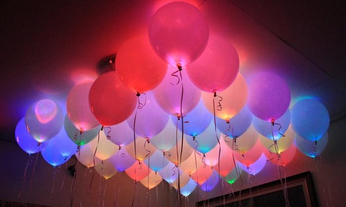 Groupon Goods Global GmbH: 1, 2, 3, 4 ou 5 lots de 5 ballons de 12 pouces à LED Wakadabaloon