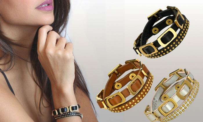 uno6eight Leather Wrap Bracelet: uno6eight Renee Genuine Leather Wrap Bracelet