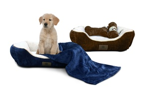 Akc Extra-large Deluxe 3-piece Bed Set