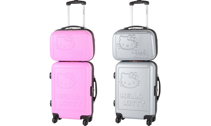 San Francisco 4f4c4 c2bb3 Valise cabine et vanity ABS Hello Kity | Groupon Shopping