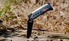Tactical Knife: Tactical Knife with LED Flashlight and Flint Rod