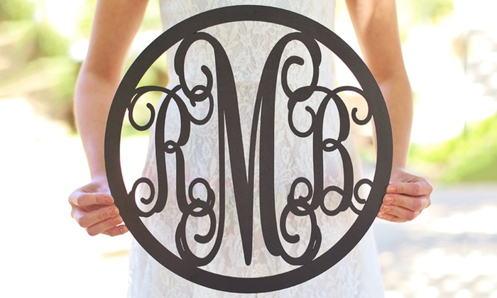 Monogram Wall Hangings monogram wall hangings - morgann hill designs | groupon