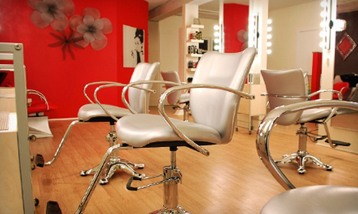 OM Vogue - OM Vogue Hair Lounge: Haircut, Style, and Conditioning Treatment with Optional Highlights and Toner at OM Vogue (Up to 61% Off)