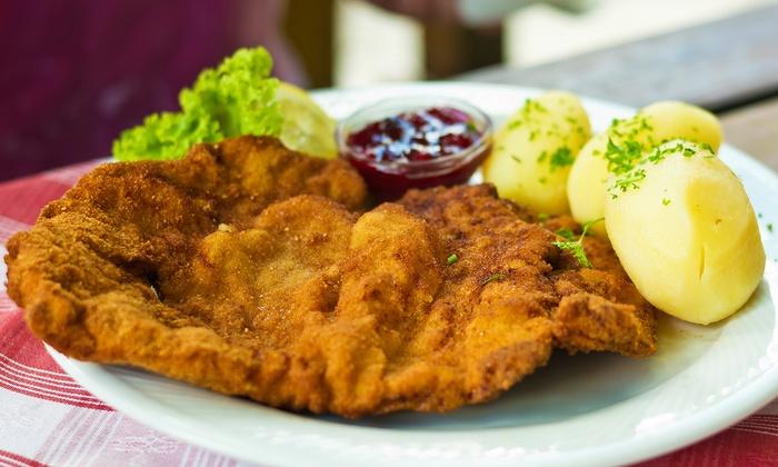 Parkrestaurant Fellbach - Fellbach: 3-Gänge-Schnitzel-Menü für 2 oder 4 Personen im Parkrestaurant Fellbach (bis zu 42% sparen*)