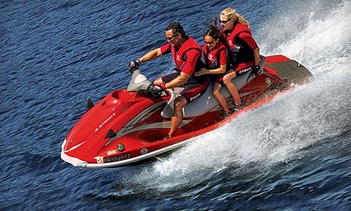 Adventure Water Sports - Fort Myers Beach: $64 for a Guided Jet Ski Dolphin Tour for One from Adventure Water Sports ($110 Value)