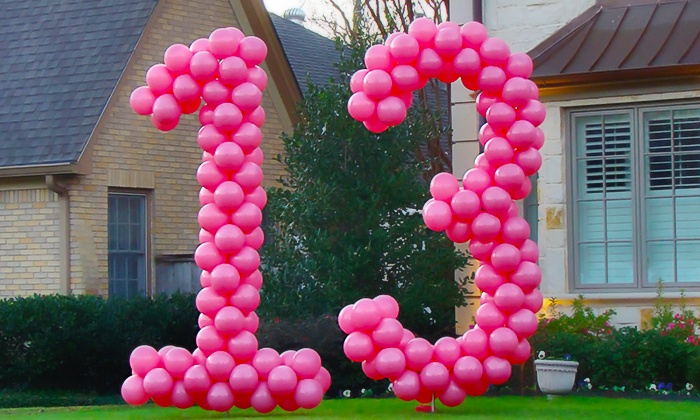Balloons Now - Dallas: Single- or Double-Digit Balloon-Number Decoration at Balloons Now (Up to 52% Off)