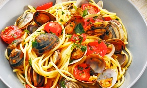 Don Raffaele: Menu di mare con antipasto,primi di pesce illimitati, dolce e vino