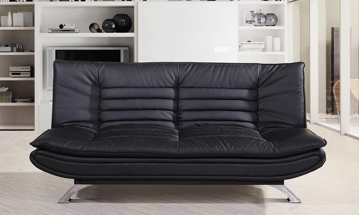 Sof cama con apertura clic clac groupon goods for Sofa cama apertura clic clac