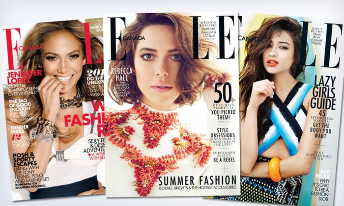 "Elle Canada - Willowdale: $12 for a Two-Year Subscription to ""Elle Canada"" (24.05 Value)"