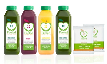 Philadelphia: $109 for 3-Day Juice Cleanse with Shipping from Peeled Juice Bar ($233 Value)