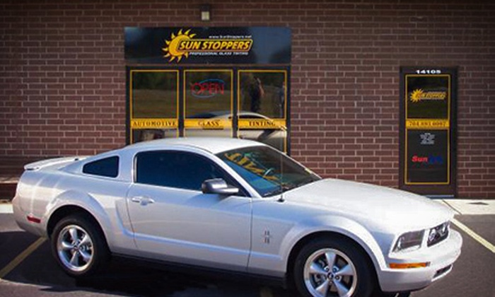 Sun Stoppers Window Tinting - Multiple Locations: Infrared Window Tinting for Two Door Windows or a Two- or Four-Door Car at Sun Stoppers Window Tinting (Up to 67% Off)