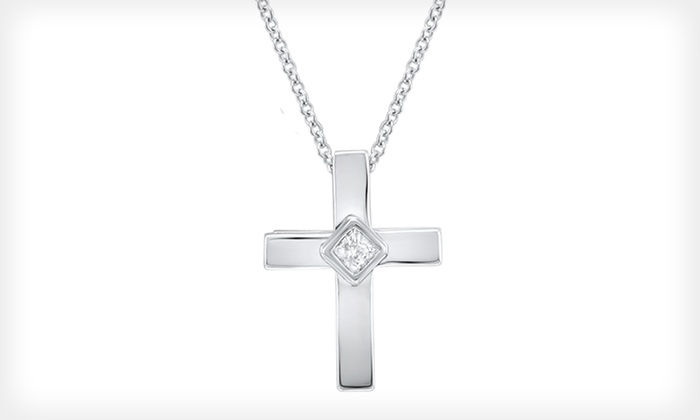 Princess-Cut Diamond Cross Pendant: $99 for a Princess-Cut Diamond Cross Pendant ($229.99 List Price). Free Shipping and Free Returns.