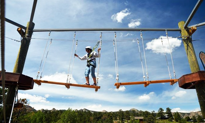 Open Air Adventure Park - Estes Park: 90-Minute Aerial Adventure Park Experience for Two or Four at  Open Air Adventure Park (Up to 48% Off)