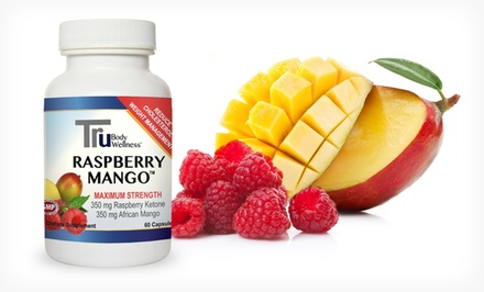 One, Two, or Three 30-Day Supplies of Healthy Body Tru Raspberry Mango Weight-Management...