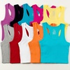 Women's Ribbed Cotton Racerback Tank Tops (12-Pack)