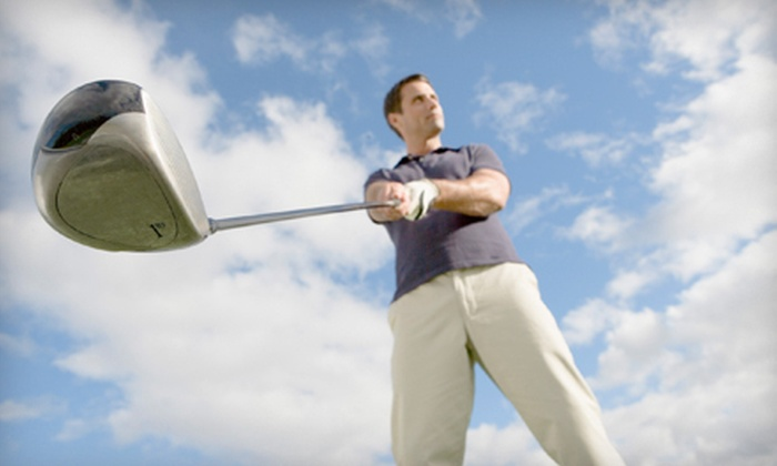 CompuGolf Center - Multiple Locations: Biomechanical Golf Lesson, Two-Month Golf-Membership Package, or Both from CompuGolf Center (Up to 76% Off)