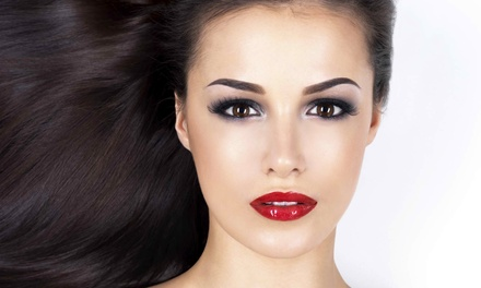 Wash, Cut, and Dry with Optional Highlights from Heather at Kiss and Make-Up (Up to 56% Off)