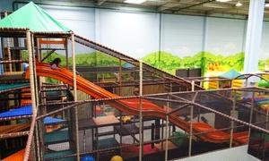 TOBIDU  Dein Dschungel - Indoorspielplatz: Eintritt für 1 Erwachsenen mit Kindern oder eine Familie für Tobidu Dein Dschungel-Indoorspielplatz (bis zu 25% sparen*)