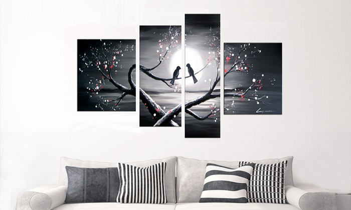 Hand painted multipanel oil paintings on canvas hand painted oil painting on canvas